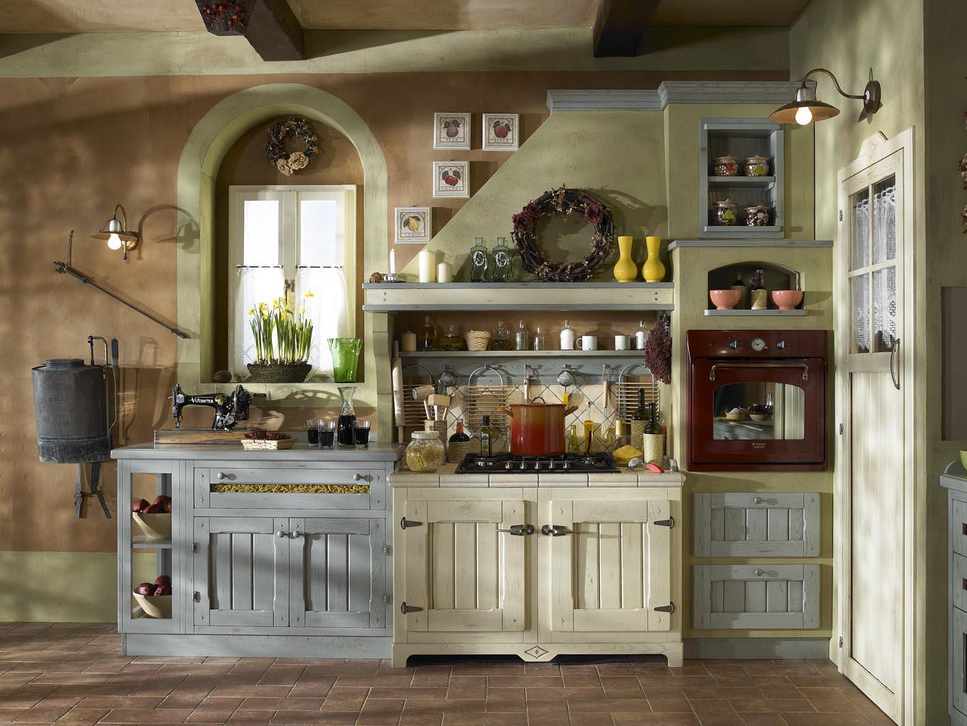 Cucine Moderne In Finta Muratura : Albano Mobili Cucine Classiche E  #9F812C 1359 1020 Forma Cucine E Veneta Cucine